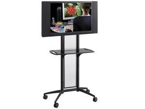 "Safco 8926BL Impromptu® Flat Panel TV Cart 38""w x 20""d  65 1/2""h Black (frame) - OEM"