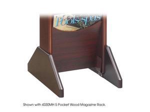 "Safco 4332MH Wood Display Base, Mahogany 13 3/4""w 1 1/4""d x 5 3/4""h Mahogany - OEM"