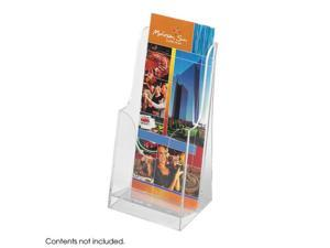 "Safco 5637CL Acrylic Single Pocket Pamphlet Display (Qty 6) 4 1/2""w x 3 1/2""d x 8 1/4""h Clear - OEM"