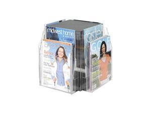 "Safco 5695CL Reveal™ 8 Magazine Tabletop Displays 16""w x 16""d x 14""h Clear - OEM"