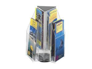 "Safco 5697CL Reveal™ 6 Pamphlet Tabletop Displays 9 1/2""w x 9 1/2""d x 12 1/2""h Clear - OEM"