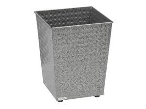 "Safco 9733NC Checks Wastebasket (Qty.3) 10 1/2""w x 10 1/2""d  x 12 1/2""h Black Speckle - OEM"