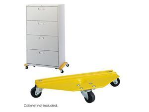 """Safco 5320 Furniture Movers 20""""w x 8 1/4""""d x 4 1/4""""h Yellow - OEM"""
