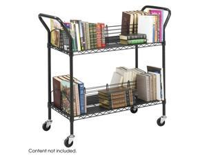 "Safco 5333BL Wire Book Cart 44""w x 18 3/4""d x 40 1/4""h Black - OEM"