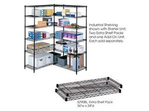 "Safco 5290BL Industrial Extra Shelf Pack, 24 x 36"" 36""w x 24""d x 1 1/2""h Black - OEM"