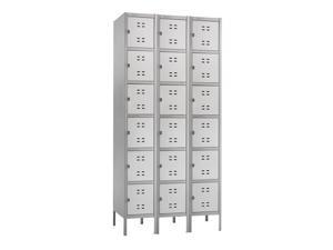 "Safco 5527GR Box Locker 3 Column 36""w x 18""d x 78""h Gray - OEM"