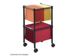"Safco 5221BL 2-Tier Compact File Cart 15 1/2""w x 14""d x 27 1/2""h Black - OEM"