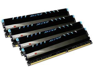 AVEXIR Core Series (Blue LED) 32GB (4 x 8GB) CL10 Quad Channel 240-pin DDR3 1600 (PC3 12800) Desktop Memory Module Model ...