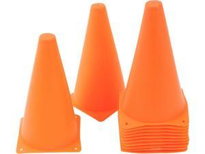 "9"" Plastic Cone -12 pack Orange - Sports Training Gear by Trademark Innovations®"