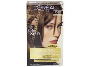 Superior Preference Fade-Defying Color # 5G Medium Golden Brown - Warmer by L'Oreal for Unisex - 1 Application Hair Color
