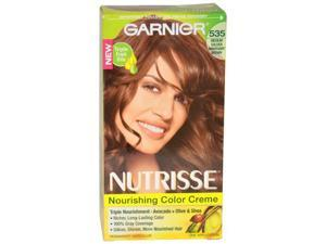 Nutrisse Nourishing Color Creme # 535 Medium Golden Mahogany Brown by Garnier for Unisex - 1 Application Hair Color