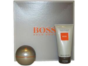 Boss In Motion by Hugo Boss for Men - 2 Pc Gift Set 3oz EDT Spray, 5oz Energising Shower Gel