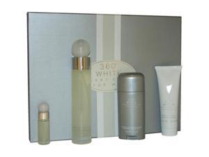 360 White by Perry Ellis for Men - 4 Pc Gift Set  3.4oz EDT Spray, 3oz After Shave Balm, 2.75oz Alcohol Free Deodorant Stick, ...