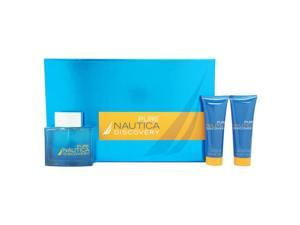 Nautica Pure Discovery by Nautica for Men - 3 Pc Gift Set 3.4oz EDT Spray, 2.5oz After Shave Balm, 2.5oz Shower Gel