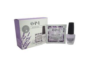 Get Set & Go! by OPI for Women - 2 Pc Set 0.5oz Rapidry Top Coat, 10 Wipe Off! Acetone-Free Lacquer Remover Wipes