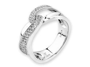 18K/750 White Gold Round Diamond Cluster Right Hand Ring (0.47cttw, G-H Color, VS2-SI1 Clarity, Ring Size US 6.5)