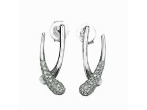 18K White Gold Meteor Diamond Stud Earring (0.53cttw, G-H Color, VS2-SI1 Clarity)