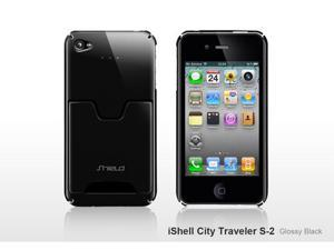 SHIELD iShell City Traveller S2 Ultra-Slim Polycarbonate Credit Card Case (Glossy Black) for iPhone 4 / 4S