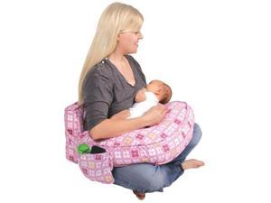 Leachco Ease Back Nursing Pillow with Back Support (Pink - 4 Squares)