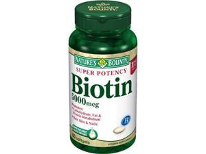 Nature's Bounty, Super Potency Biotin, 5000mcg, 60-Count (Pack of 2)