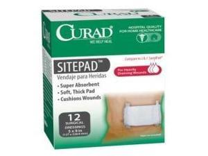 Curad hospital quality super absorbency extra cushioning site pads, surgical dressings 5x9 inches - 12/Pack
