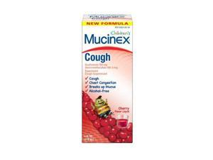 Mucinex Children's Cough Expectorant Cough Suppressant Guaifenesin Dextromethorphan, Cherry, 4 Ounce