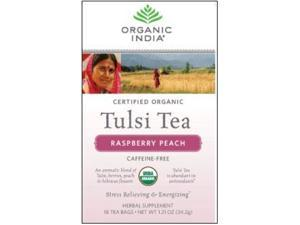 Organic India USA - Tulsi Raspberry Peach Tea, 18 bags