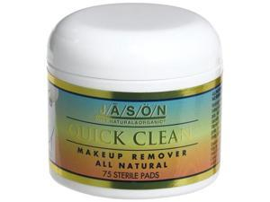 Makeup Remover Quick Clean Non-Oily - Jason Natural Cosmetics - 75 - Pad