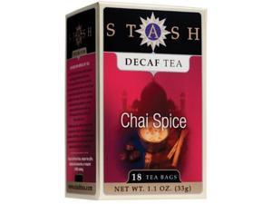 Stash Premium Decaf Chai Spice Tea, Tea Bags, 18-Count Boxes (Pack of 6)