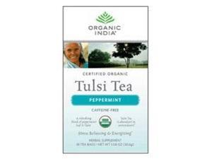 Tulsi Peppermint Tea, 18 Tea Bags, Organic India [Health and Beauty]