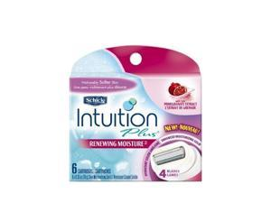 Schick Intuition Plus Renewing Moisture Refill - Pomegranate, 6-Count