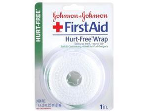Johnson & Johnson First Aid Hurt-Free Wrap (1-Inch x 2.3-Yard), 1-Count Rolls...