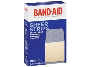 Band-Aid Comfort-Flex Adhesive Bandages, Sheer, Extra Large, 10 ct.