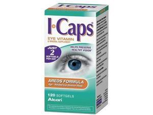 Icaps Areds Formula Eye Vitamin and Mineral Supplement, 120  Softgels,
