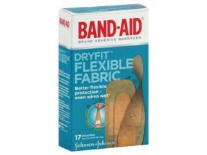 Band-Aid Dryfit Adhesive Bandages, Flexible Fabric, Assorted, 17 ct.