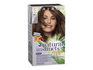 Clairol Natural Instincts Vibrant Permanent Hair Color 6G, Hot Tea, Light Gol...