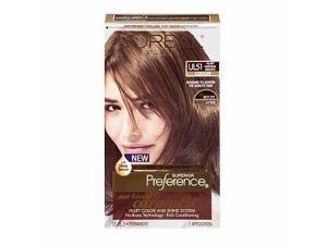 L'oreal Preference Natural Brown Sun-kissed Caramels, Hi-lift Natural Brown Ul51