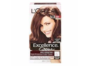 L'Oreal Paris Excellence Hair Color Creme, 5CB Medium Chestnut Brown