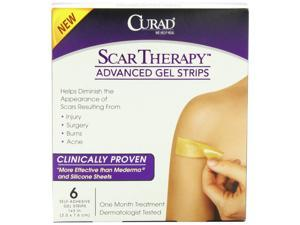 Curad Advanced Gel Scar Therapy Treatment Strips, 1x3 Inches, 6 Count