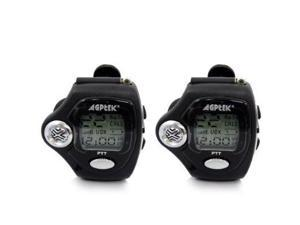 AGPtek MT2 2-Way WristWatch Walkie Talkie, Pair (Black)