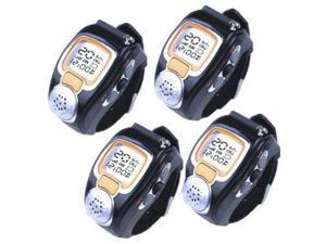 4 Pieces of AGPtek Pair Fashionable Radio Romote Talker Wristwatch Walkie Talkie Two-Way Digital Watch