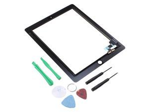 Black Digitizer Replacement Touch Screen For iPad 2 + 6 Pcs Repair Tool
