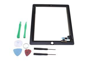 iPad2 Touch Screen Glass Digitizer Replacement with 6-Pc Repair Tool (Black)