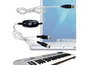 USB To MIDI Keyboard Interface Converter Cable Adapter Support Mac OS