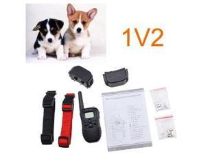 LCD Display Remote Pet Dog Training Collar with 100 Level Vibration For 2 Dogs