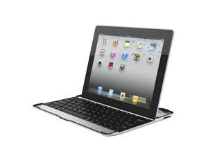 Wireless Bluetooth 2.0 Island-style Keyboard + Aluminum Case Cover for Apple New iPad/ iPad 4 w/ Stand
