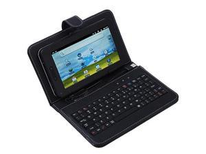 "Build-in USB Keyboard Leather Case Smart Cover Bag for VIA 8650 7"" PDA, 7"" Tablet PC MID"