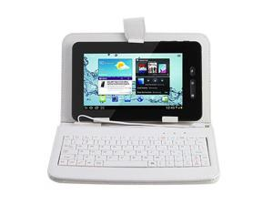 "7"" -inch WiFi Capacitive Full Touch Screen 1.2GHz CPU 512MB Memory 4GB G-Sensor 3G Tablet PC w/ USB Keyboard Leather Case ..."