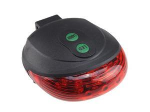 Bike Bicycle Laser Beam LED Flash Safety Rear Tail Light Lamp