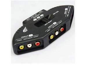3-way AV Audio Video RCA Switch Box Selector Splitter for Xbox 360, DVD, PlayStation 2/PS2, PlayStation 3/PS3